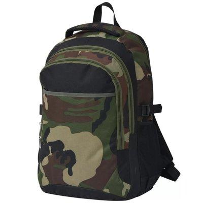 Rugzak voor school 40 L zwart en camouflage