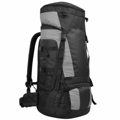 Backpack met regenhoes XXL 75 L zwart