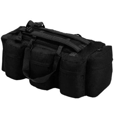 Plunjezak 3-in-1 legerstijl 120 L zwart
