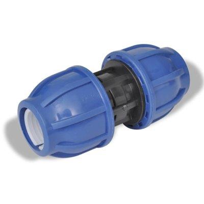 PE slangverbinding rechte koppeling 16 bar 25mm (2 stuks)
