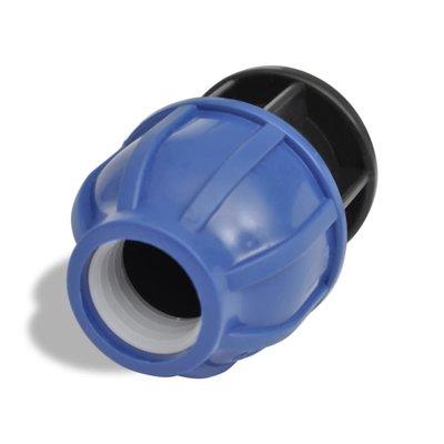 PE buis connector Com. Afsluitdop 16 bar 32 mm 2 stuks