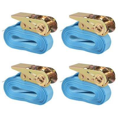Spanbanden 0,8 ton 6mx25mm blauw 4 st