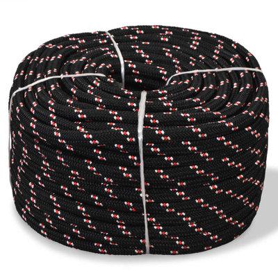 Boot touw 12 mm 50 m polypropyleen zwart