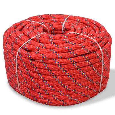 Boot touw 10 mm 50 m polypropyleen rood