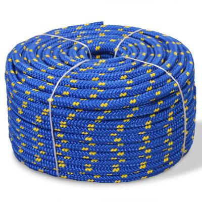 Boot touw 6 mm 100 m polypropyleen blauw