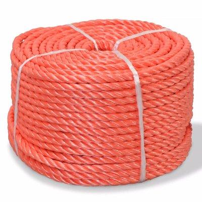 Touw gedraaid 6 mm 200 m polypropyleen oranje
