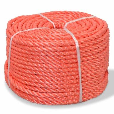 Touw gedraaid 10 mm 100 m polypropyleen oranje