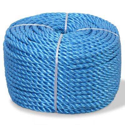 Touw gedraaid 6 mm 200 m polypropyleen blauw
