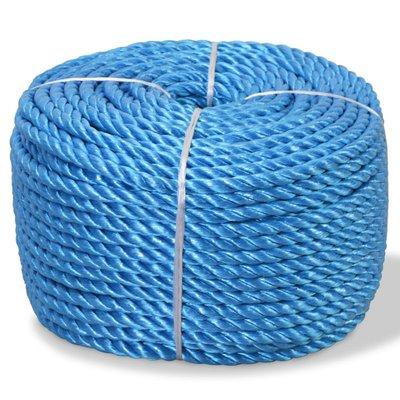Touw gedraaid 8 mm 200 m polypropyleen blauw