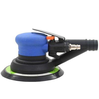 Pneumatische vlakschuurmachine met afzuiging 150 mm 4-delig