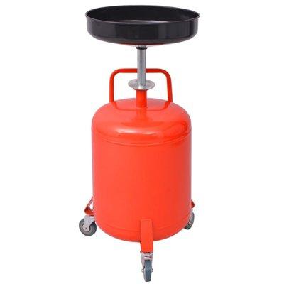 Olie opvangtank 49,5 L staal rood