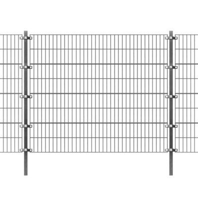 Omheiningspaneel met palen 6x1,6 m antraciet