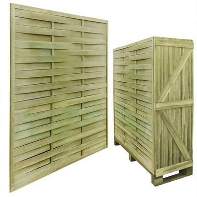 Schuttingpanelen 30 st 54 m geïmpregneerd hout 180 x 180 cm vierkant