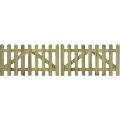Tuinhek poort 2 stuks 300 x 80 cm geïmpregneerd hout