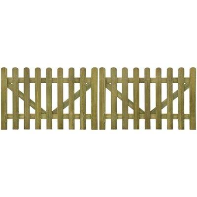 Tuinhek poort 2 stuks 300 x 100 cm geïmpregneerd hout