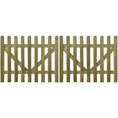 Tuinpoort 300x120 cm geïmpregneerd hout 2 st
