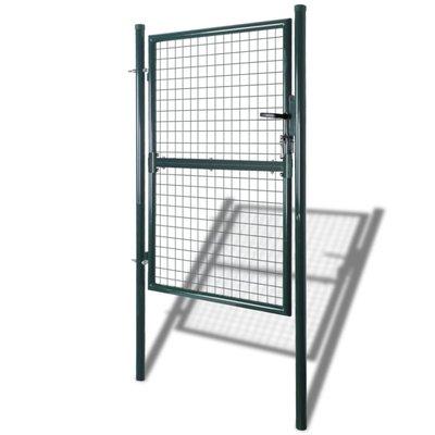 Tuinpoort 85,5x200 cm/100x250 cm staal groen
