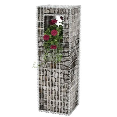 Schanskorf paal/plantenbak staal 50x50x160 cm