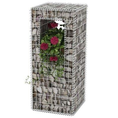 Schanskorf paal/plantenbak staal 50x50x120 cm