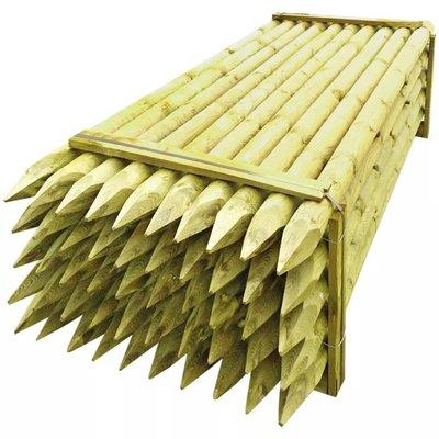 Schuttingpaal met punt 50 stuks 10 x 240 cm hout