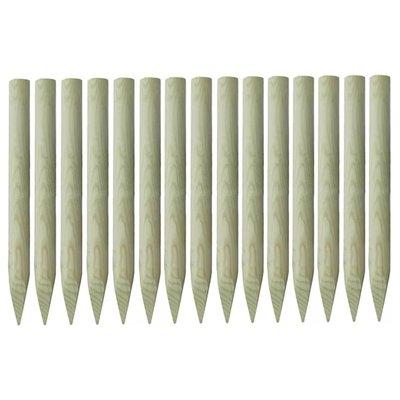 Palen met punt geïmpregneerd grenenhout 4x100 cm 15 st