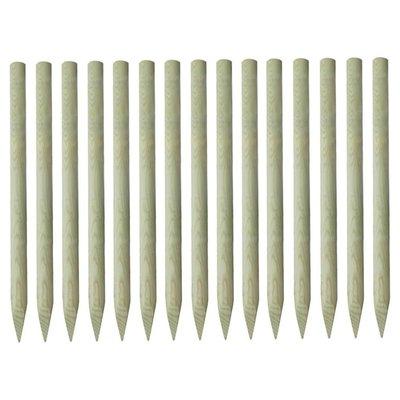 Palen met punt geïmpregneerd grenenhout 4x150 cm 15 st