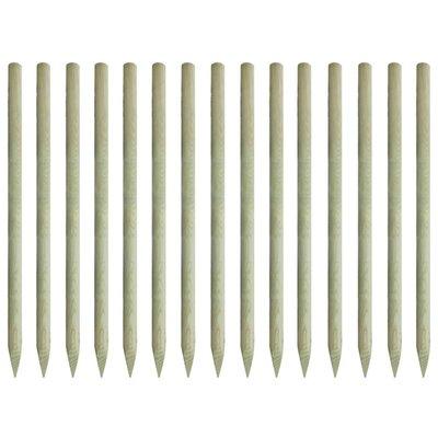 Palen met punt geïmpregneerd grenenhout 4x197 cm 15 st