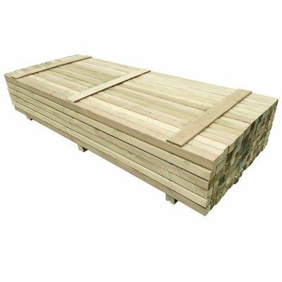 Schuttingpalen 6x6x240 cm geïmpregneerd grenenhout 96 st