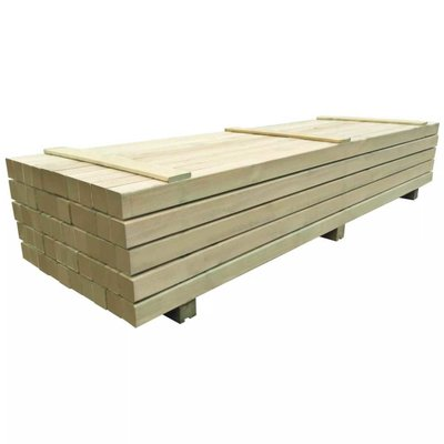 Schuttingpalen 9x9 cm 2,4 m geïmpregneerd grenenhout 50 st