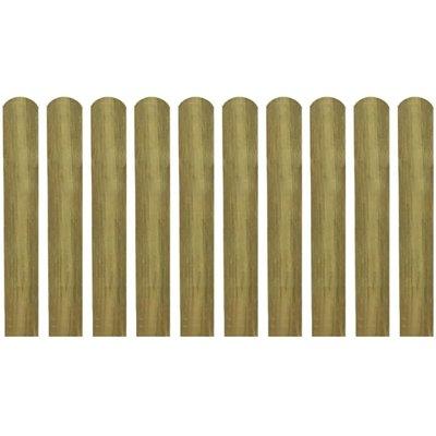 Hekpaneel 10 stuks 60 cm geïmpregneerd hout