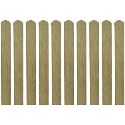 Hekpaneel 10 stuks 80 cm geïmpregneerd hout