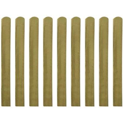 Hekpaneel 10 stuks 100 cm geïmpregneerd hout