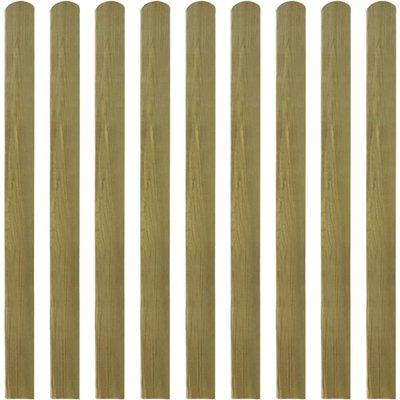 Hekpaneel 10 stuks 120 cm geïmpregneerd hout