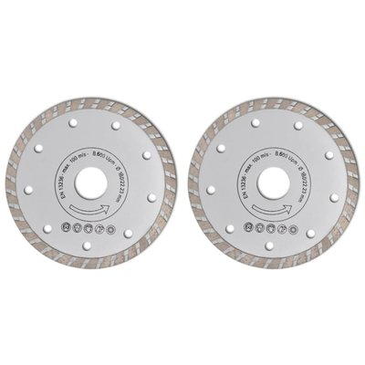 Turbo diamantzaagblad 180mm (2 stuks) 7mm diamantrand breedte