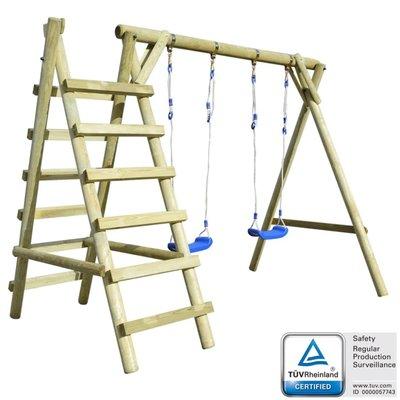 Schommel set met ladders 268x154x210 cm grenenhout
