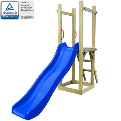 Speelhuis set met glijbaan en ladder 237x60x175 cm grenenhout