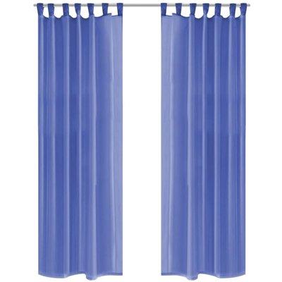 Gordijnen voile 140x175 cm koningsblauw