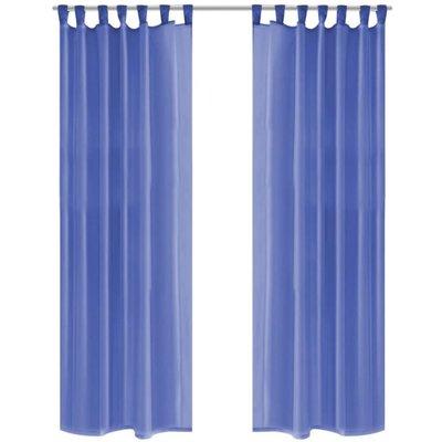 Gordijnen voile 140x225 cm koningsblauw 2 st