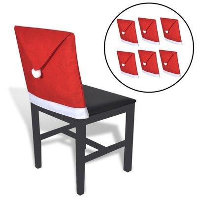 Kerstmutshoezen voor rugleuning stoel 6 st