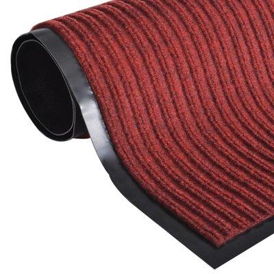 Deurmat PVC 90 x 60 cm (rood)