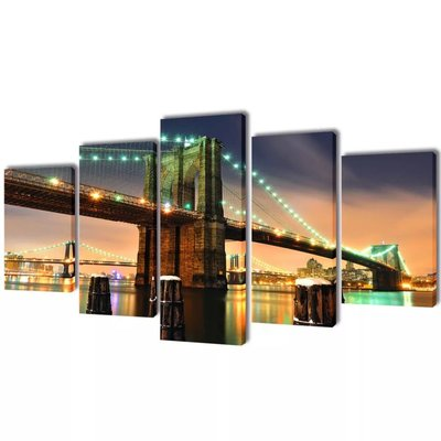 Canvasdoeken Brooklyn Bridge 200 x 100 cm