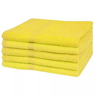 Saunahanddoekenset 360 g/m² 80x200 cm katoen geel 5-delig