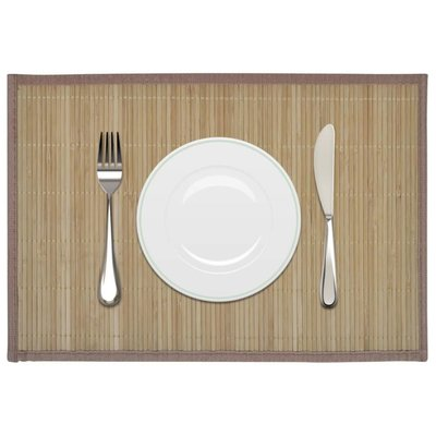 6 Placemats bamboe 30 x 45 cm bruin