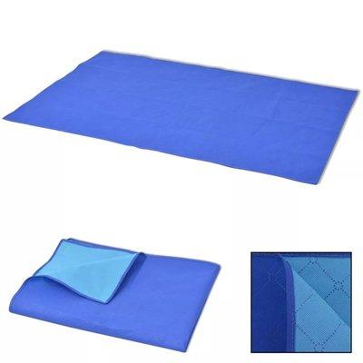 Picknickkleed 100x150 cm blauw en lichtblauw