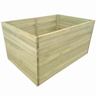 Plantenbak geïmpregneerd grenenhout 100x100x77 cm