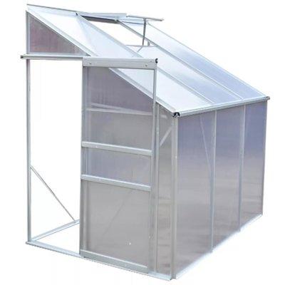 Tuinkas half model aluminium 3 secties