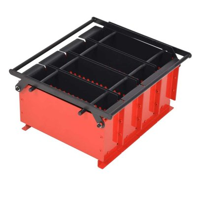 Brikettenpers voor papier 38x31x18 cm staal zwart en rood