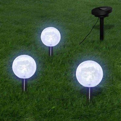 Tuinlampen op zonne-energie LED 3 stuks met grondpinnen en zonnepaneel