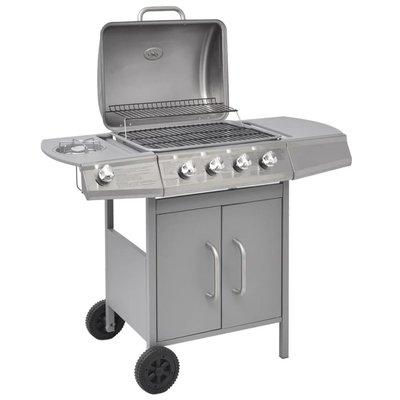 Gasbarbecue 4+1 branders zilver