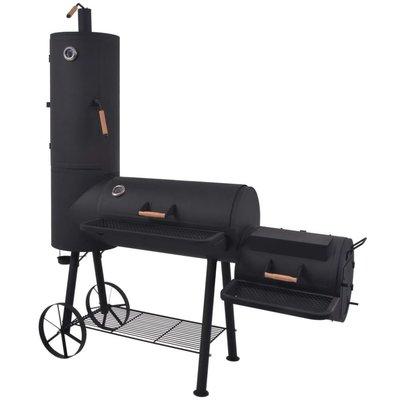 Houtskoolbarbecue met onderplank XXL zwart
